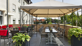 Tryp by Wyndham Luebeck Aquamarin Restaurant Terrace